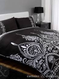 33 clever design black and white double duvet set spacious fresh sets 15 in boho covers with decor 8