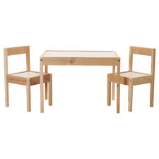 ikea lÄtt children s table with 2 chairs