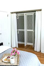 Behind Bedroom Doors Cast Closet Transformed From A Double Door Closet With  Center Partition To One