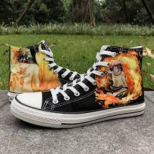 *shows a picture of himself to people #one piece #incorrect one piece quotes #one piece au #strawhat crew #monkey d. Wen Anime Black Hand Painted Shoes Design Custom One Piece Ace Men Women S High Top Canvas Sneakers Gifts For Man Boys Gift Paperweight Sneaker Manufacturesneaker Nike Aliexpress