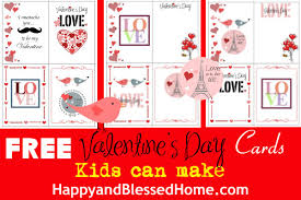Valentines Day Cards For Boys Free Valentines Day Cards Kids Can Make Happy And Blessed Home