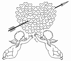Kleurplaat Troetelbeertjes Mooi Hartjes Valentijn Kleurplaten