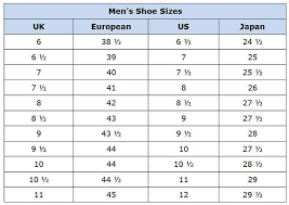 European Size Chart Shoes Shoes Collections