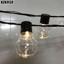 clear bulb ball ac110 220v string light outdoor waterproof 5cm big ball 10 20 38 led fairy lights outdoor led decorative light string of light bulbs