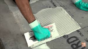 installing ceramic and porcelain floor tile step 5 apply your thinset