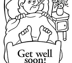 Get Well Coloring Pages Feel Better Soon Sheets For Cute Free