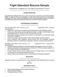 Sample Resume For Flight Attendant Flight Attendant Resume Sample Writing Tips Resume Companion