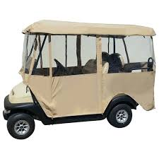 yamaha golf cart enclosures classic fairway golf cart enclosure khaki yamaha golf