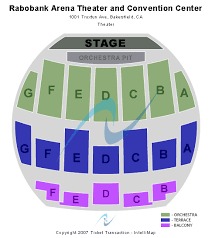 Seating Chart Rabobank Arena Bakersfield Rabobank Theater Seating Chart