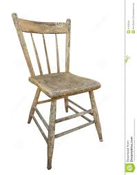 Kitchen Chair Old Wooden Kitchen Chair Isolated Stock Photo Image 41539333