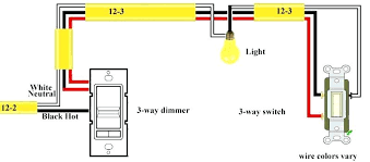 three way light this allows for the two traveler wires to travel three way switch with dimmer wiring diagram three way light wiring