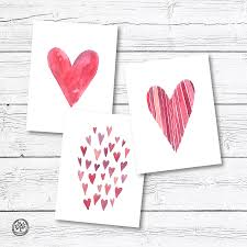Painted Hearts Note Cards