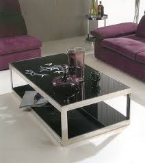 astonishing black glass top coffee table set tables intended for ideas 17