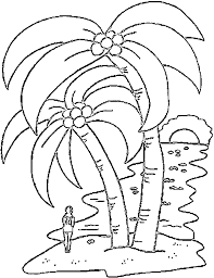 Small Picture Palm tree coloring pages at beach sunset ColoringStar