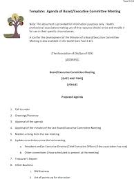 Directors Meeting Agenda Template Combined With Edit Free Formal ...