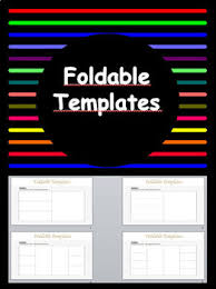 Editable Foldable Templates 4 Foldable Templates Editable By Glitter Bubbles Tpt