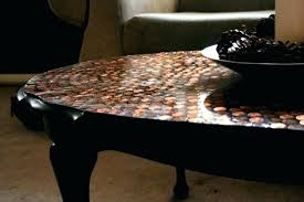 table mosaic coffee table tile penny tiled diy marble