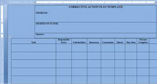 Project Management Plan Template Free Download Free Download Sample Corrective Action Plan Template Word Project
