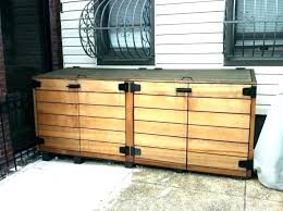 outdoor garbage can storage container build enclosure bin s how to trash ideas