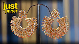 How To Design Earrings Jewellery Diwali Decoration Ideas How To Make Earrings Paper Earring Jewelry Making Diy 142