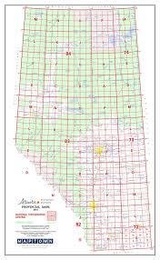 Alberta Grid Chart Alberta Provincial Base Map Poster Nts 1 2 000 000
