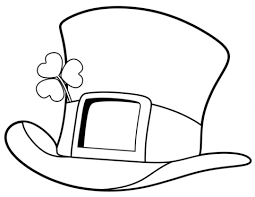 St Patrick Day Top Hat Coloring Page Free Printable Coloring Pages