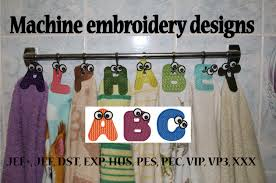 Machine Embroidery Designs FSL Monogram Fonts Embroidery Kitchen - Home machine embroidery designs