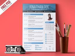Modern Resume Infographics Creative Graphic Designer Resume Psd Template Psdfreebies Com