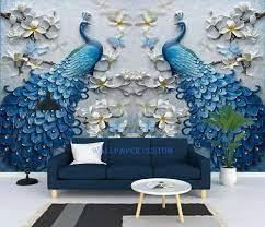 Wallpaper dinding 3d klasik elegan ...