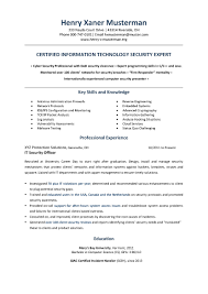 Security Clearance Resume Example Examples Of Resumes