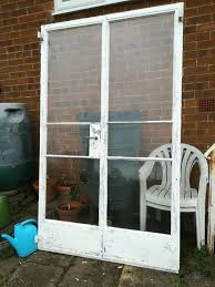 details about crittall solid metal french doors in frame