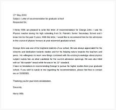 how do you write a letter of recommendation sample letter of recommendation for graduate school from