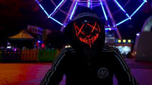 Led Light Up Mask Purge Led Light Up Purge Mask For Festival Cosplay Costume
