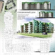 Примеры проектов жилого дома средней этажности