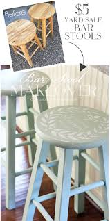 painting bar stools ideas.  Ideas Yard Sale Bar Stools Painted In Inglenook By Fusion Mineral Paintu2026 With Painting Ideas O