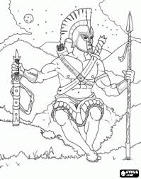 Small Picture Ancient Greek Olympics Coloring Pages Ares the feared god of