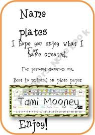 Jungle Color Name Plates With Free Alphabet Charts Product