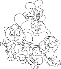 The Amazing World Of Gumball Family Coloring Page Wecoloringpage