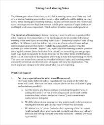 Meeting Note Taking Template Beauteous Meeting Notes Template 48 Free Word PDF Documents Download