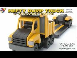 wood toys wood toy plans hefty dump truck and trailer you