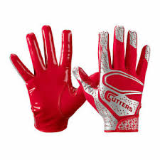 Details About Adult Mens Cutters Rev 2 0 Backs And Receivers Red Football Gloves S Small
