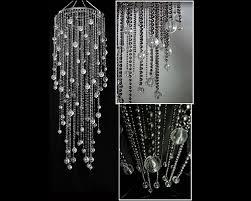 large steel grey acrylic drop chandelier za hllm11 l ste