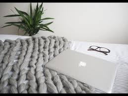 Arm Knit Blanket Pattern Cool DIY Chunky Arm Knitted Blanket Tutorial YouTube