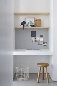 10 small home office ideas lining part of the wall of the alcove with a alcove office