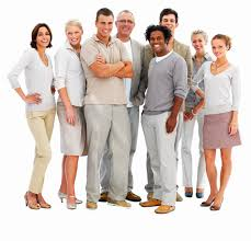 how to dress for success the davinci meeting rooms blog happy business people standing together against white background