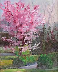 cherry tree painting cherry tree by judy fischer walton