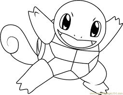 Small Picture Squirtle Pokemon Coloring Page Free Pokmon Coloring Pages