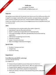 Dental Office Resume Unique Dental Receptionist Resume Sample Resume Examples Pinterest