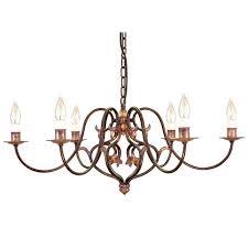 6 light chandelier kichler allen roth eastview dark oil rubbed bronze zurich collection