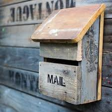 wood mailbox ideas. Our New Recycled Wood Letterboxes Made From 100% Wood. Each Item Is Unique Mailbox Ideas A